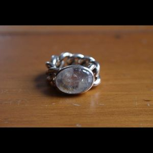 Jewelry - Freitag Silver ring with moonstone